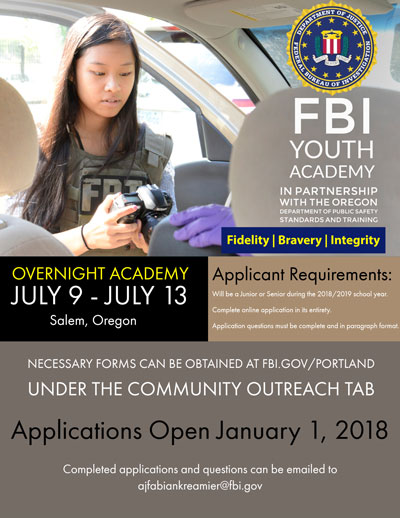 2018 FBI Youth Leadership Academy